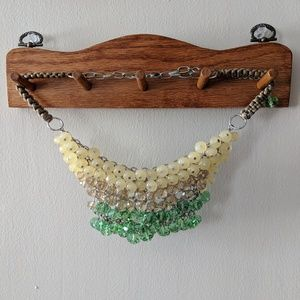 Anthropologie Crystal Bib Necklace